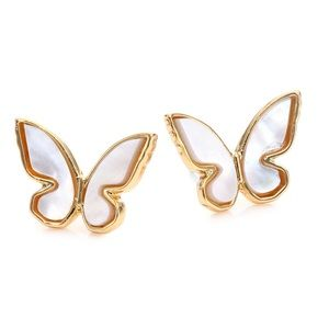 Kate Spade All A Flutter MOP Stud Earrings